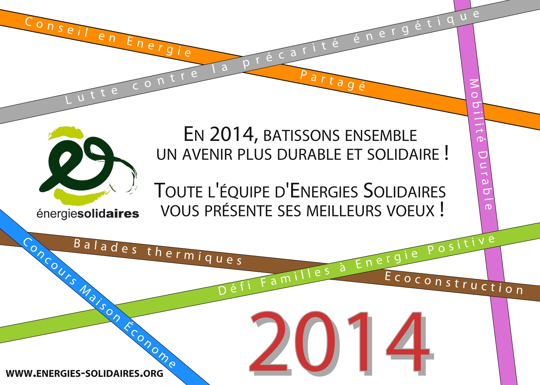 Meilleurs voeux 2014 energies solidaires - Motif carte de voeux ...